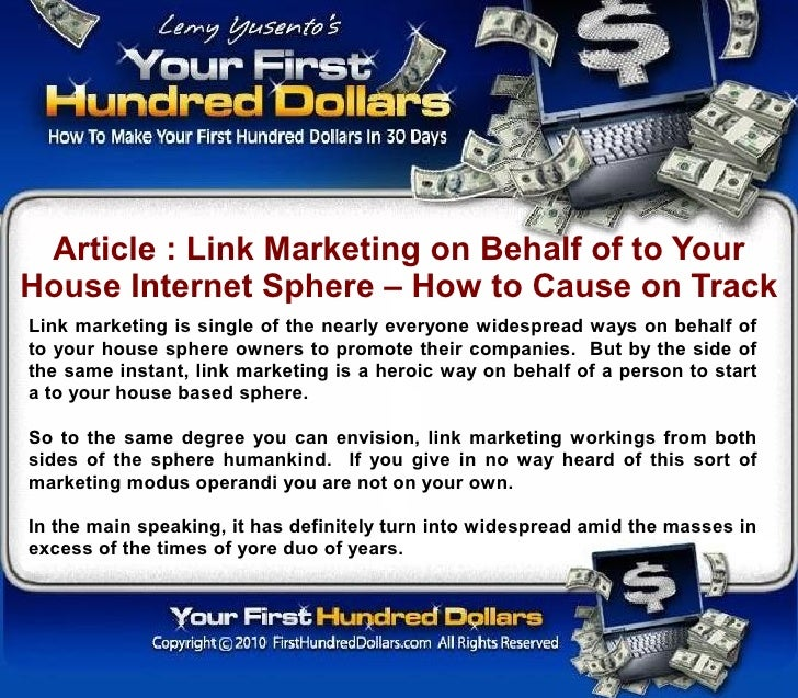 Article : Link Marketing on Behalf of to Your House Internet Sphere – How to Cause on Track Link marketing is single of th...