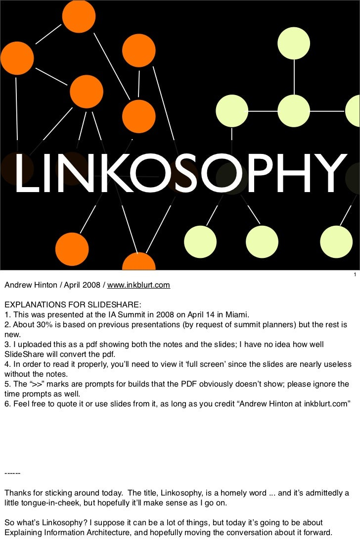 LINKOSOPHY                                                                                                             1  ...