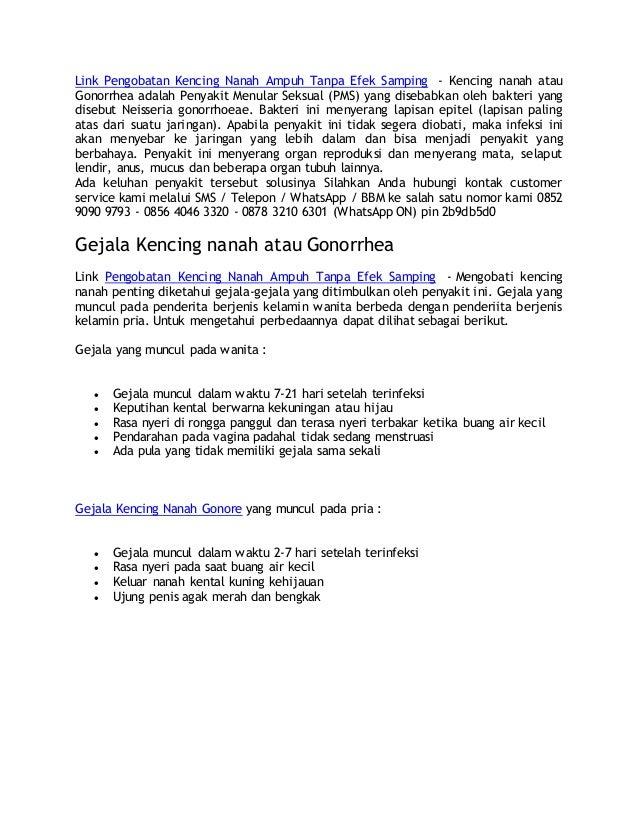 Link Pengobatan Kencing Nanah Ampuh Tanpa Efek Samping - Kencing nanah atau Gonorrhea adalah Penyakit Menular Seksual (PMS...