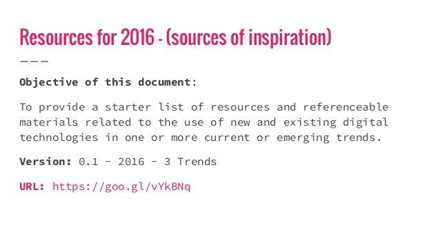 Resources (Links) for 2016 Slide 2