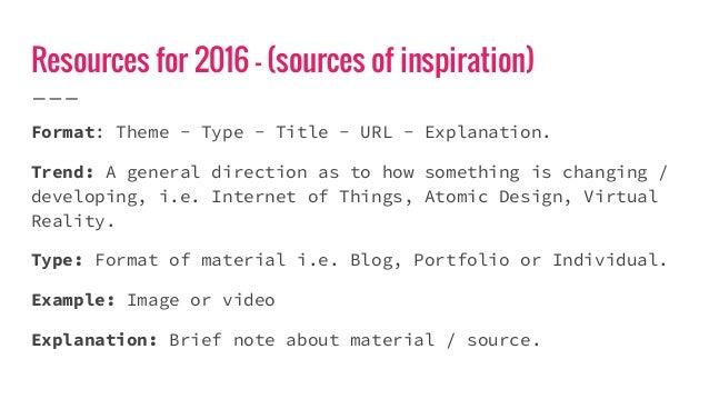 Resources (Links) for 2016 Slide 3