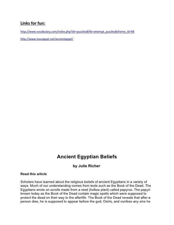 Links for fun: http://www.vocabulary.com/index.php?dir=puzzles&file=attempt_puzzles&theme_id=98  http://www.touregypt.net/...