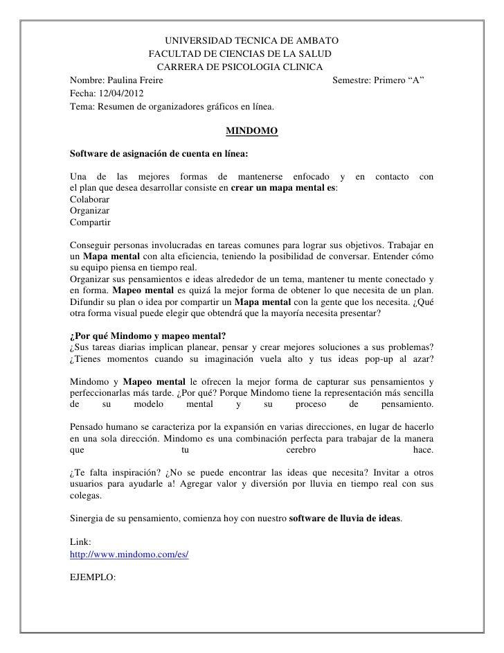 UNIVERSIDAD TECNICA DE AMBATO                  FACULTAD DE CIENCIAS DE LA SALUD                    CARRERA DE PSICOLOGIA C...