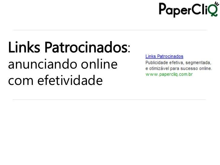 Links Patrocinados: anunciando online com efetividade