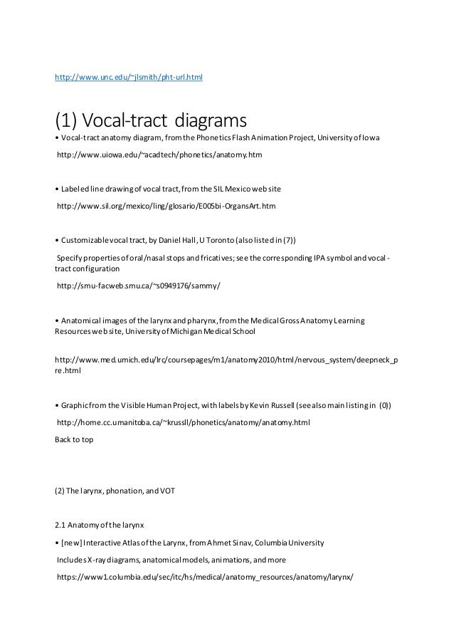 Links Vocal Tract