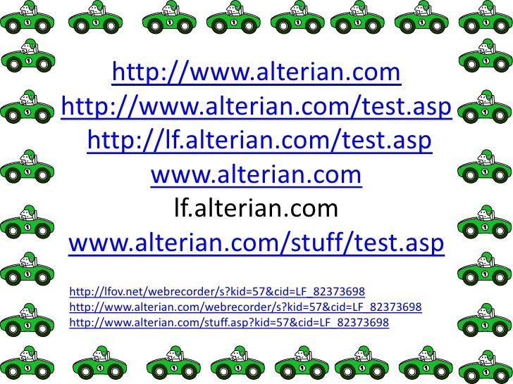 http://www.alterian.comhttp://www.alterian.com/test.asphttp://lf.alterian.com/test.aspwww.alterian.comlf.alterian.comwww.a...