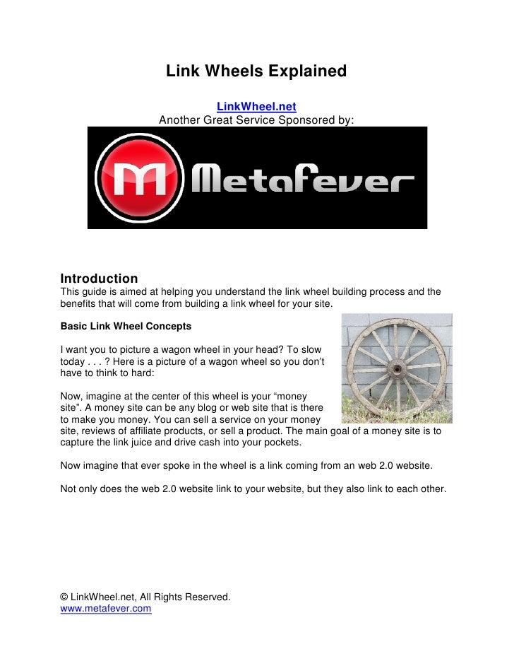 Link Wheels Explained                                   LinkWheel.net                        Another Great Service Sponsor...