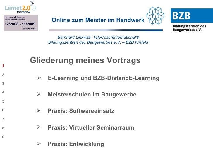 Online zum Meister im Handwerk Bernhard Linkwitz, TeleCoachInternational® Bildungszentren des Baugewerbes e.V. – BZB Krefe...