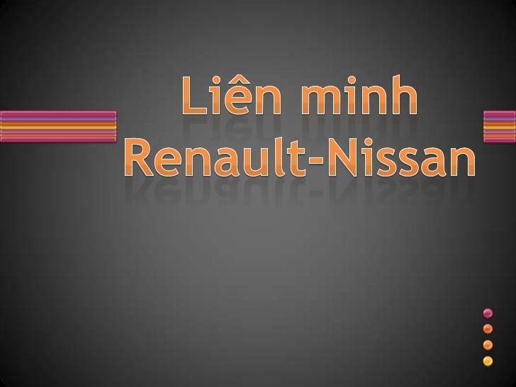 Liên minh Renault-Nissan<br />