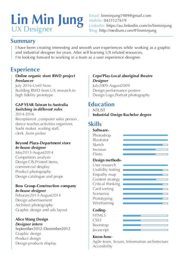 linminjung ux resume