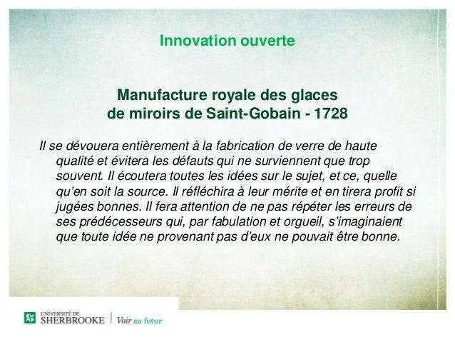 L innovation c est payant 2013 universit de sherbro for Saint gobain les miroirs