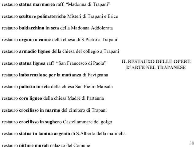 """restauro statua marmorea raff. """"Madonna di Trapani""""  restauro sculture polimateriche Misteri di Trapani e Erice  restauro ..."""