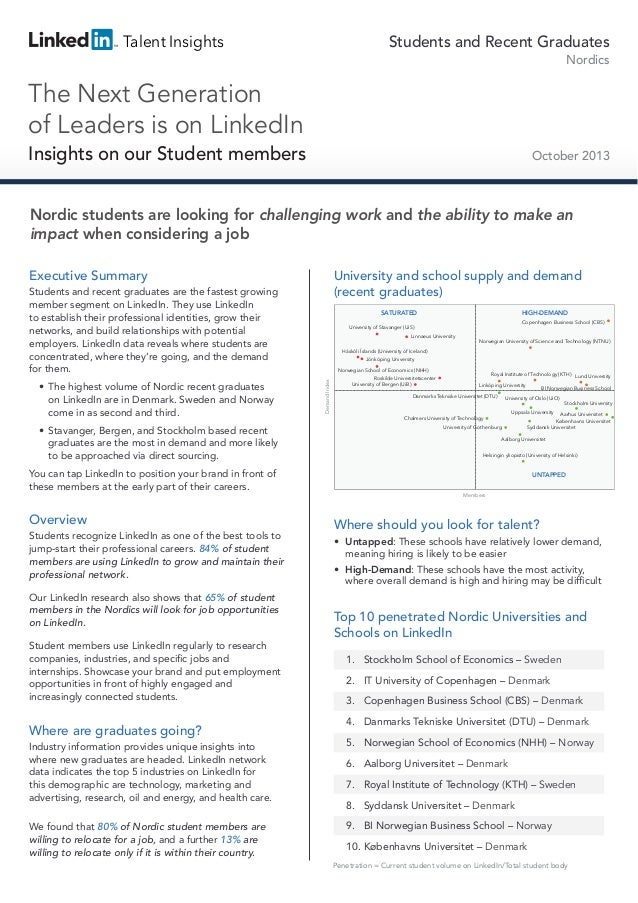 Talent Insights  Students and Recent Graduates Nordics  The Next Generation of Leaders is on LinkedIn Insights on our Stud...