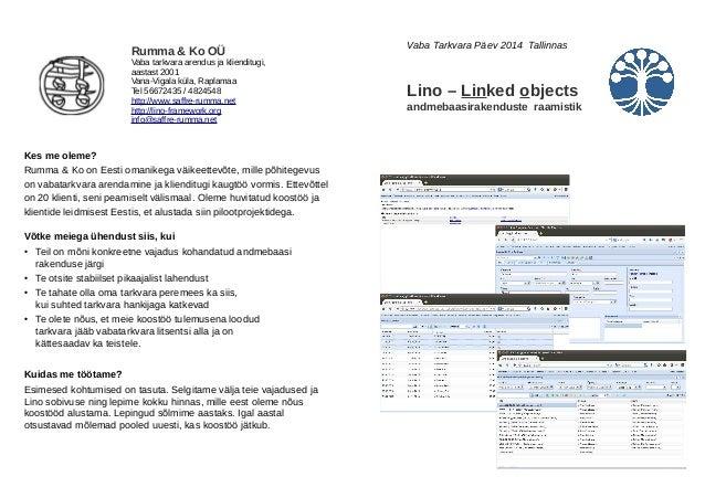 Rumma & Ko OÜ  Vaba tarkvara arendus ja klienditugi,  aastast 2001  Vana-Vigala küla, Raplamaa  Tel 56672435 / 4824548  ht...
