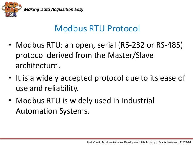 Linux with Modbus Software Development Kit