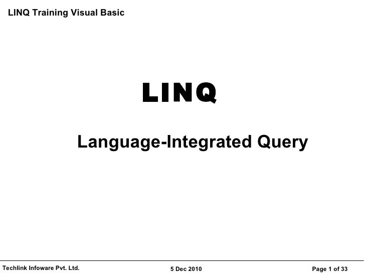LINQ Language-Integrated Query