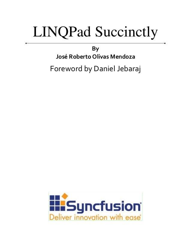Linq pad succinctly Slide 2