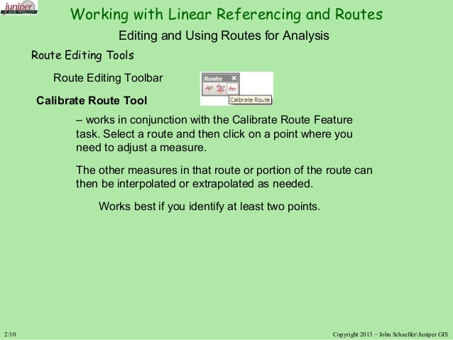 Working with Routes and Linear Referencing in ArcGIS