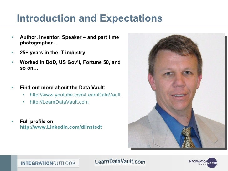 Introduction and Expectations <ul><li>Author, Inventor, Speaker – and part time photographer… </li></ul><ul><li>25+ years ...