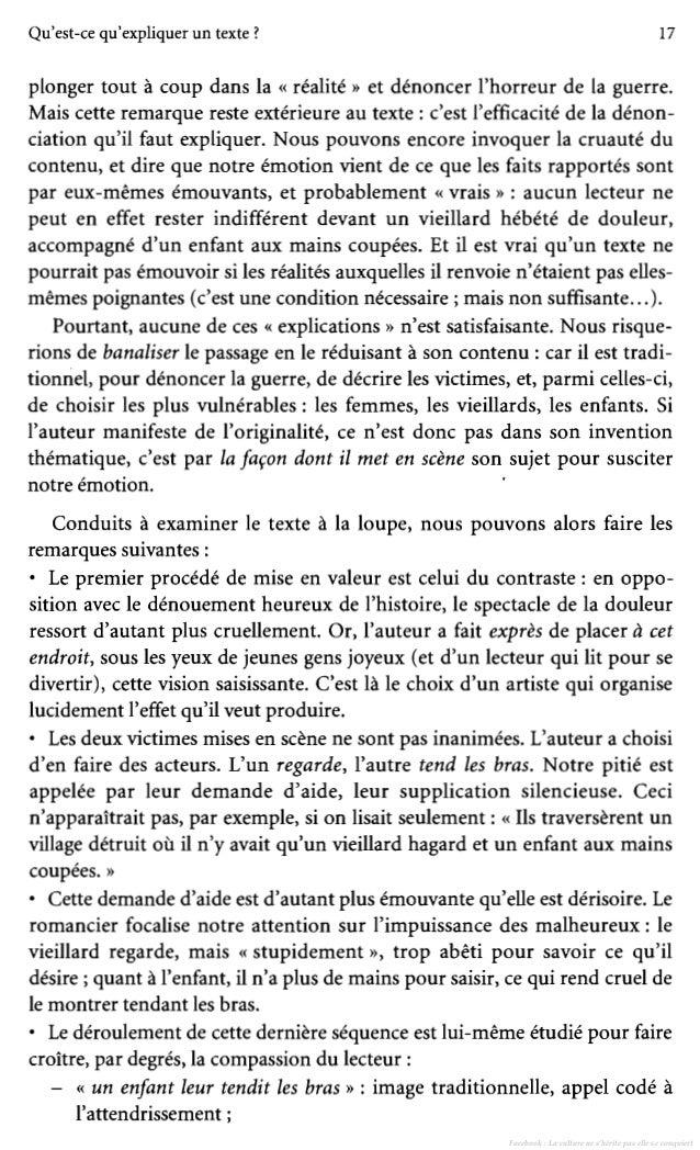 how to write an explication de texte
