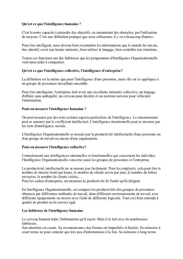 L'intelligence organisationnelle Slide 3