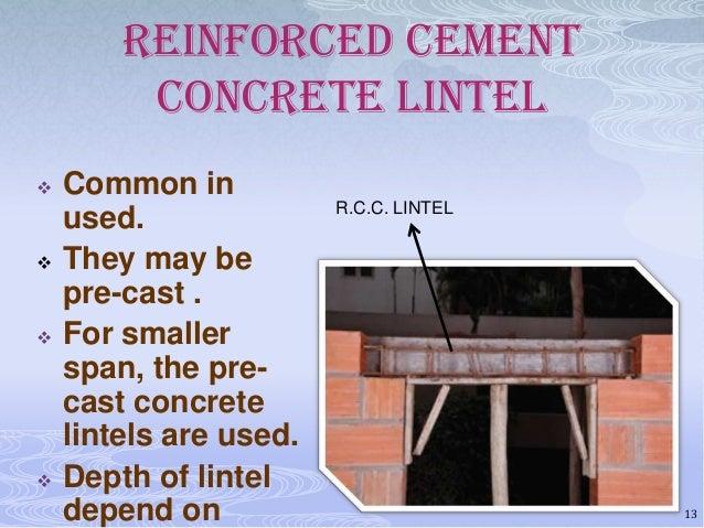 how to build a reinforced concrete lintel
