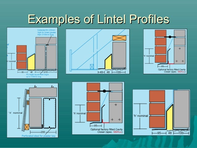 Ex&les of Lintel ProfilesEx&les of Lintel Profiles ...  sc 1 st  SlideShare & Lintels and Beams