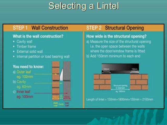 Selecting a LintelSelecting a Lintel ...  sc 1 st  SlideShare & Lintels and Beams