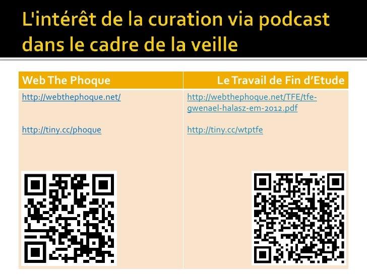 L'intérêt de la curation via podcast