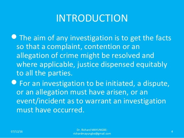criminal investigation tactics in the us essay These cases tell us that the good citizen is willing to aid the police and to  one  goal of this essay is to surface this aspect of criminal procedure decisions.