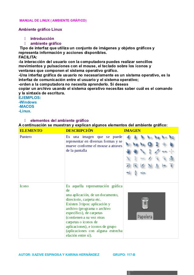 MANUAL DE LINUX ( AMBIENTE GRÁFICO)Ambiente gráfico Linux     introducción     ambiente gráfico Tipo de interfaz que uti...