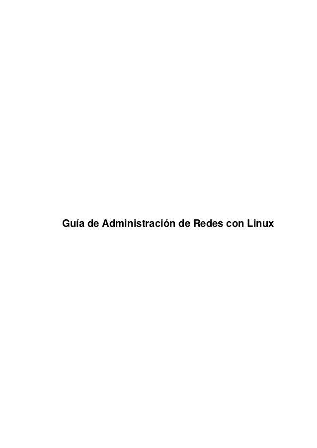 Guía de Administración de Redes con Linux