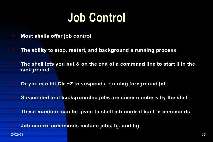 linux resume process ctrl z