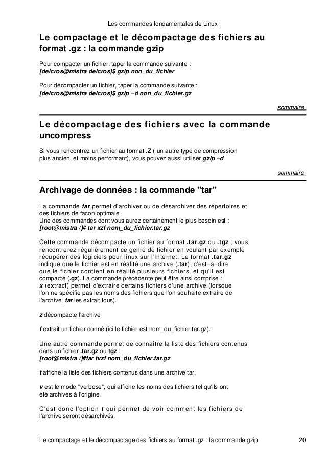 les commandes fondamentales de linux pdf