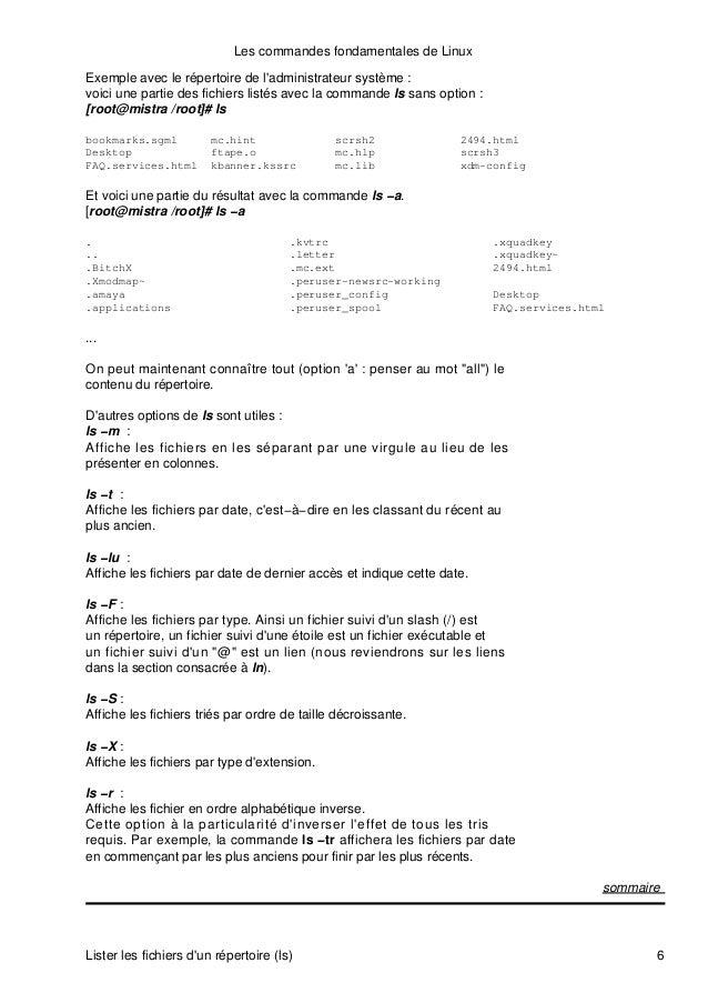 linux commandes