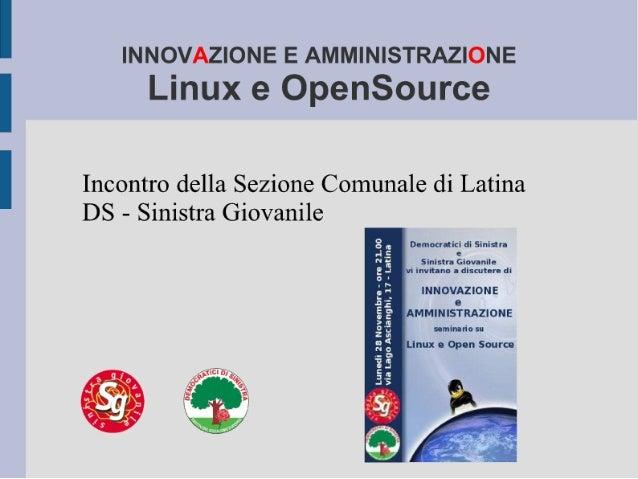 Linux e OpenSource - una introduzione politica