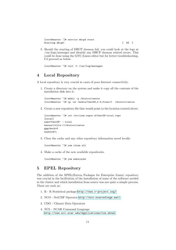 Linux hpc-cluster-setup-guide