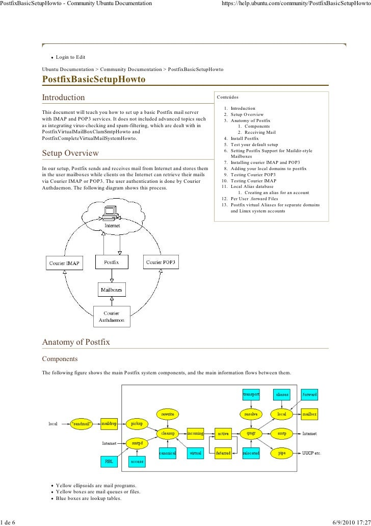 Linux instalação e-conf postfix - pop3 eimap