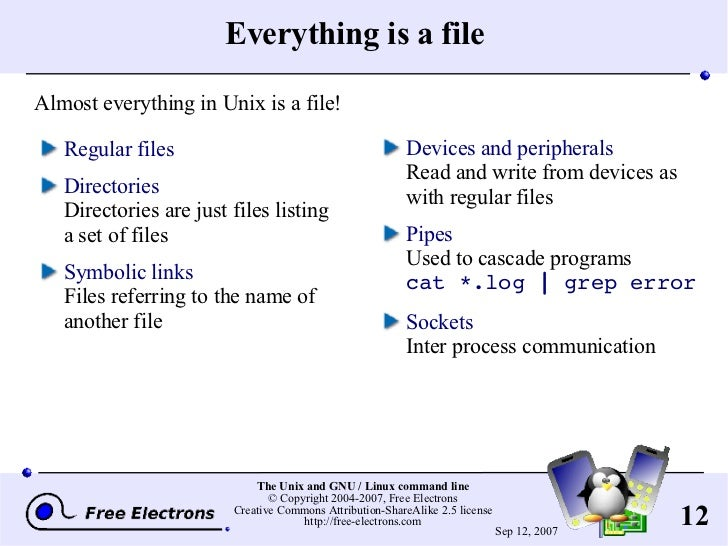 one of the unix operating system philosophies is everything is a file? quizlet
