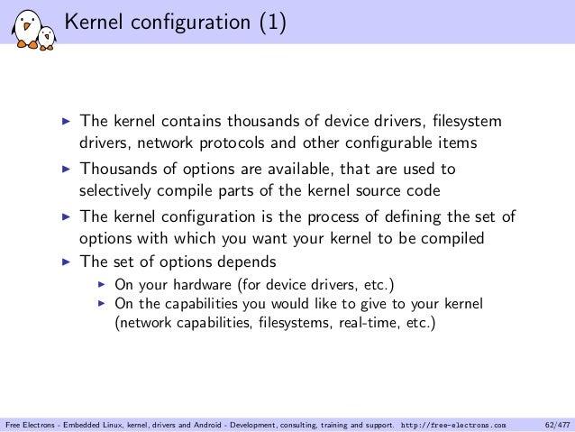 kernel configuration is invalid