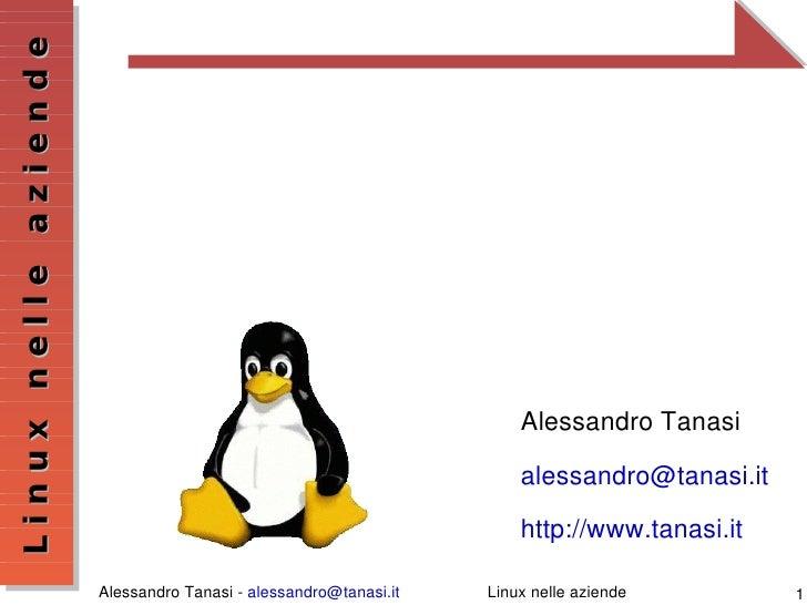 Linux nelle aziende                               Linuxnelleaziende                                                 ...