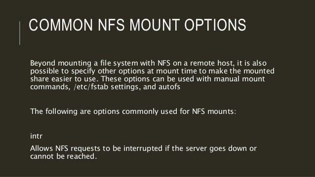 Linux network file system (nfs)