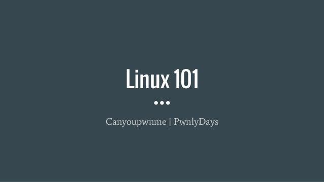 Linux 101 Canyoupwnme   PwnlyDays