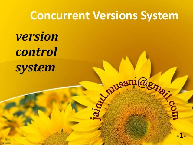 Concurrent Versions System version control system -1-