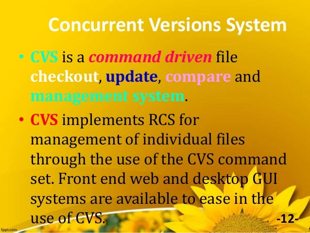 linux13 concurrent versions system