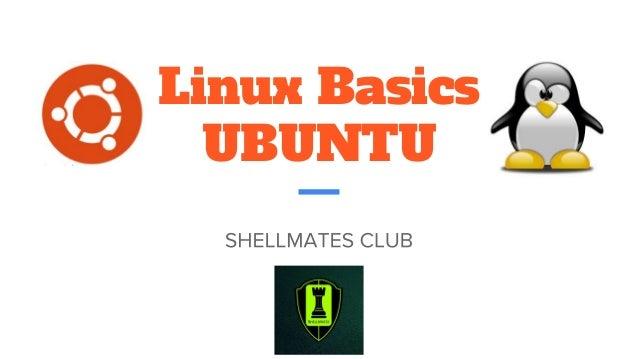 Linux Basics UBUNTU