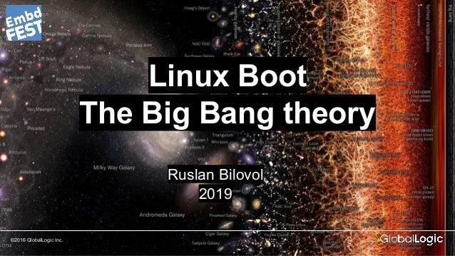 ©2016 GlobalLogic Inc. Linux Boot The Big Bang theory Ruslan Bilovol 2019