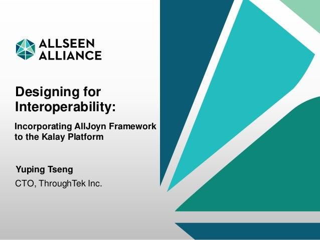 Designing for Interoperability