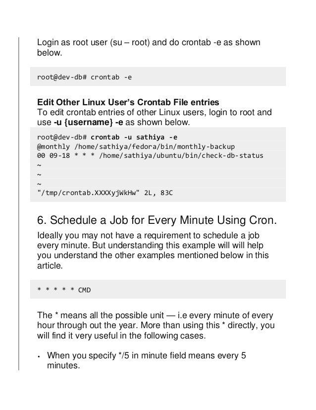 Linux crontab