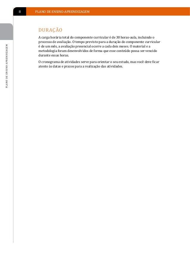 PLANO DE ENSINO-APRENDIZAGEM   9                                   PLANO DE ENSINO-APRENDIZAGEM